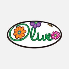 Olive Flowers Patches