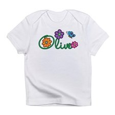 Olive Flowers Infant T-Shirt