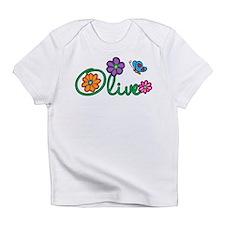 Olive Flowers Infant T-Shirt