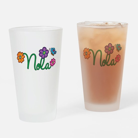 Nola Flowers Drinking Glass