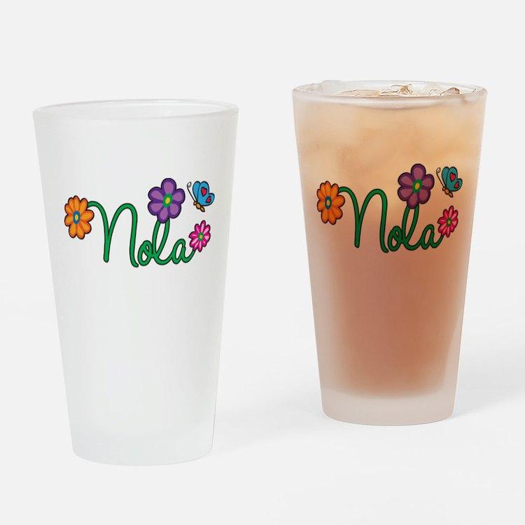 Nola Flowers Drinking Glass
