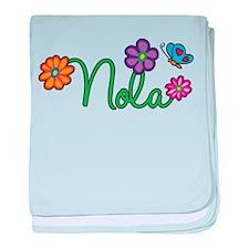 Nola Flowers baby blanket