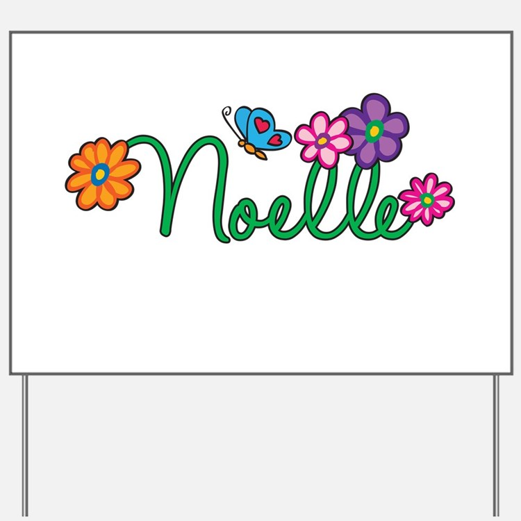 Noelle Flowers Yard Sign
