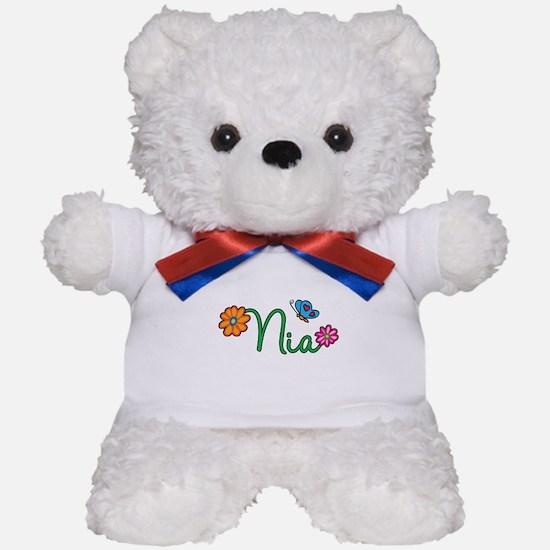 Nia Flowers Teddy Bear