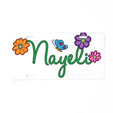 Nayeli Flowers Aluminum License Plate