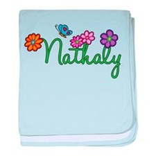 Nathaly Flowers baby blanket