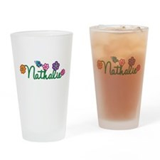 Nathalie Flowers Drinking Glass