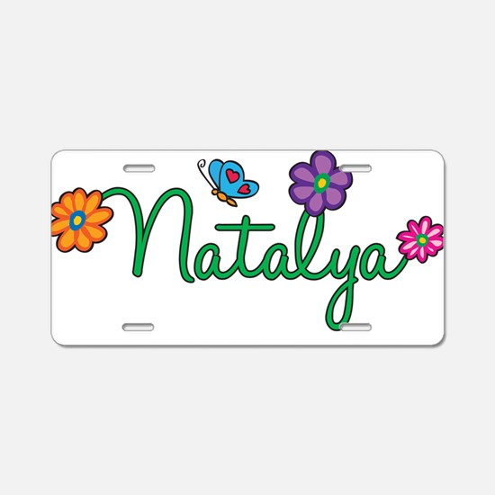 Natalya Flowers Aluminum License Plate