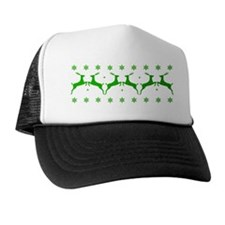 Stags And Flakes - Green Trucker Hat