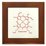 Hemoglobin Molecule Framed Tile