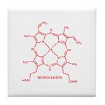 Hemoglobin Molecule Tile Coaster