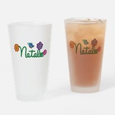 Natalee Flowers Drinking Glass
