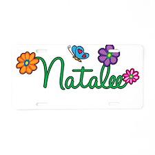 Natalee Flowers Aluminum License Plate