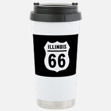 Route 66 Illinois Stainless Steel Travel Mug