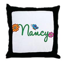 Nancy Flowers Throw Pillow