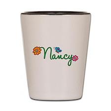 Nancy Flowers Shot Glass