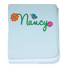 Nancy Flowers baby blanket