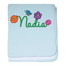 Nadia Flowers baby blanket