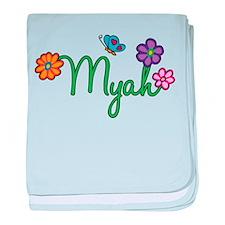 Myah Flowers baby blanket