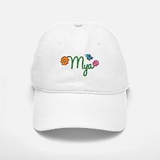 Mya Flowers Baseball Baseball Cap