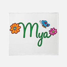 Mya Flowers Throw Blanket