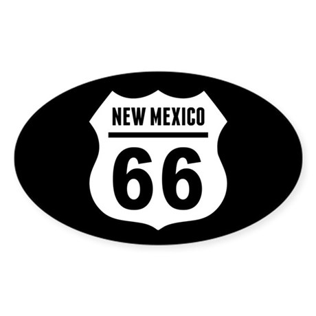 Route 66 New Mexico Sticker (Oval)
