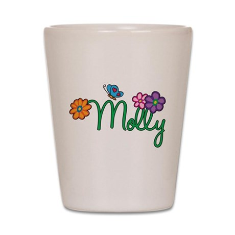 Molly Flowers Shot Glass