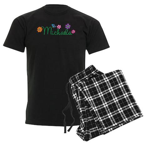 Michaela Flowers Men's Dark Pajamas