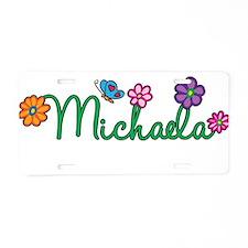 Michaela Flowers Aluminum License Plate