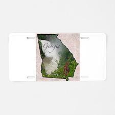 Unique Georgia Aluminum License Plate