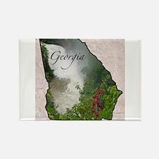 Unique Georgia state Rectangle Magnet