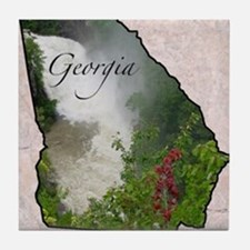 Cute Georgia state Tile Coaster