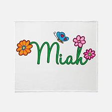 Miah Flowers Throw Blanket