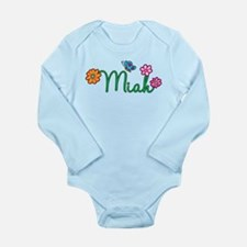 Miah Flowers Long Sleeve Infant Bodysuit