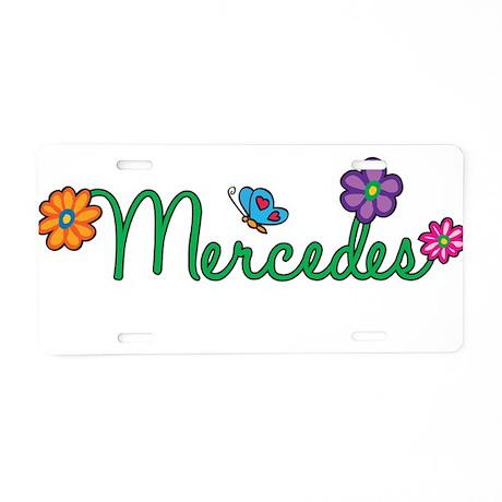 Mercedes Flowers Aluminum License Plate