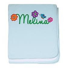 Melina Flowers baby blanket