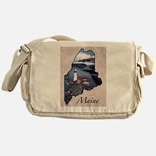 Cute Maine coon Messenger Bag