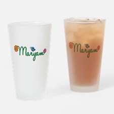 Maryam Flowers Drinking Glass