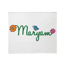 Maryam Flowers Throw Blanket