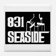 Seaside -- T-Shirt Tile Coaster
