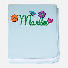 Marlee Flowers baby blanket