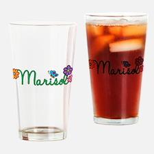 Marisol Flowers Drinking Glass