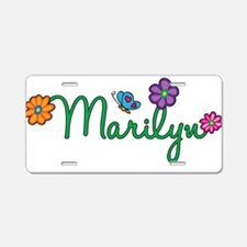 Marilyn Flowers Aluminum License Plate