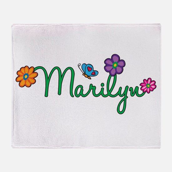 Marilyn Flowers Throw Blanket