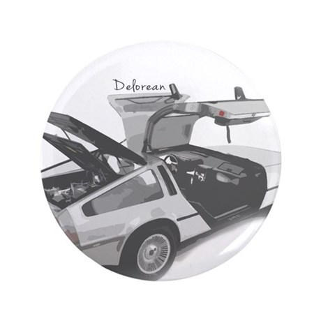 "Delorean 3.5"" Button"