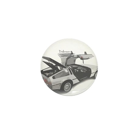 Delorean Mini Button