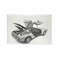 Delorean Rectangle Magnet