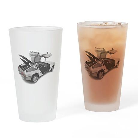 Delorean Drinking Glass