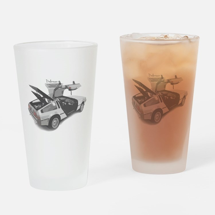 Delorean Drinking Glass