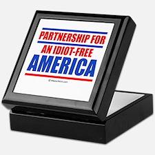 Partnership for an idiot-free America -  Tile Box
